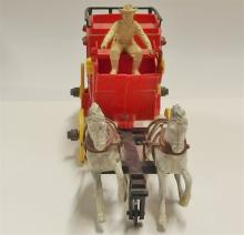 Lot 22: Vintage Ideal Fix-It Alamo Express Roy Rogers Toy Stagecoach Red
