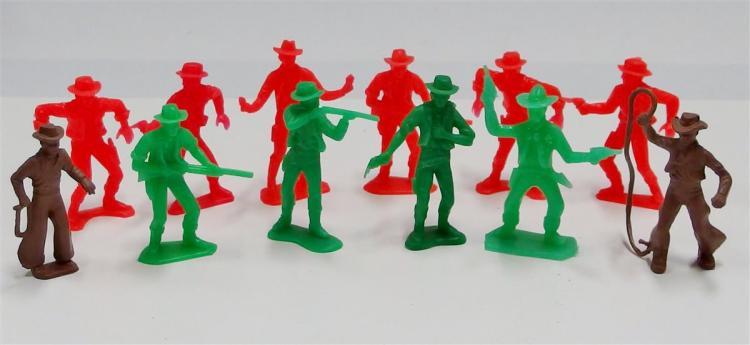"""12 Toy Cowboy Figures, 3"""""""