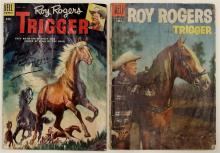 Lot 31: 2 ROY ROGERS TRIGGER - 1955 #16 Signed - 1955 Vol. 1 #92 Dell Western Comic Books