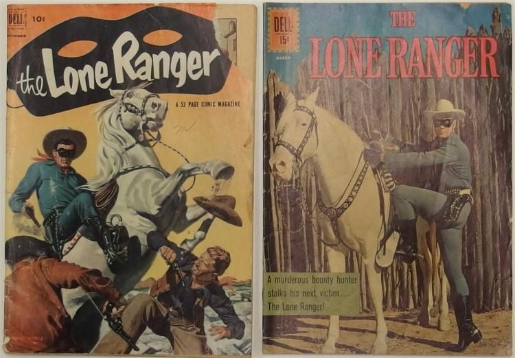 2 THE LONE RANGER - 1952 #53 - 1954 #541 Dell Western Cowboy Comic Book