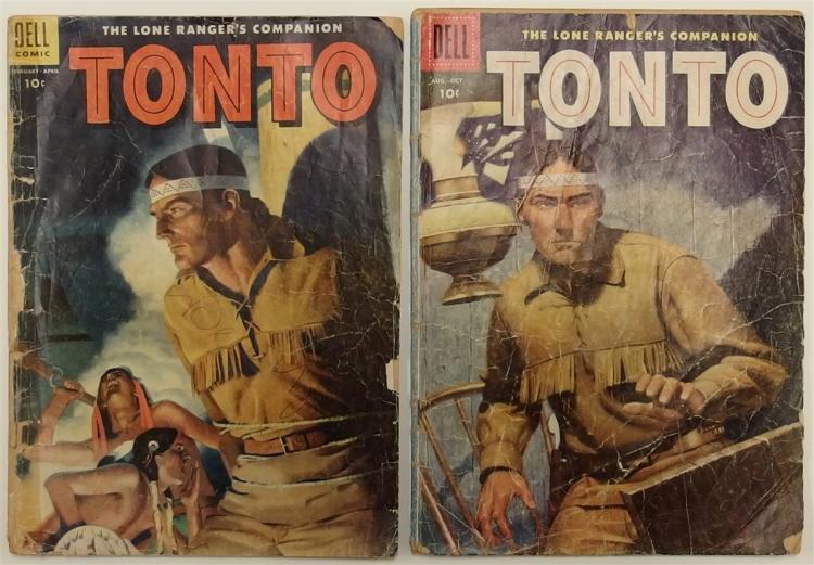 2 TONTO The Lone Ranger's Companion - 1955 #18 - 1956 #24 Dell Western Comic Book