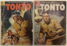 Lot 36: 2 TONTO The Lone Ranger's Companion - 1955 #18 - 1956 #24 Dell Western Comic Book