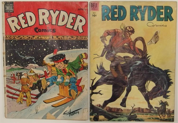 2 RED RYDER - 1949 #69 - 1953 #120 Dell Western Cowboy Comic Books