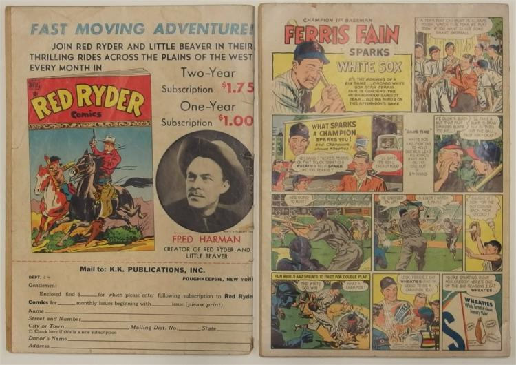 Lot 37: 2 RED RYDER - 1949 #69 - 1953 #120 Dell Western Cowboy Comic Books