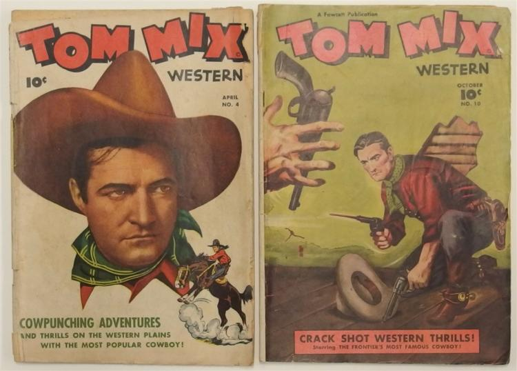 2 TOM MIX Cowboy Western - 1948 Vol 1 #4 - 1948 Vol 2 #10 - Fawcett Comic Books