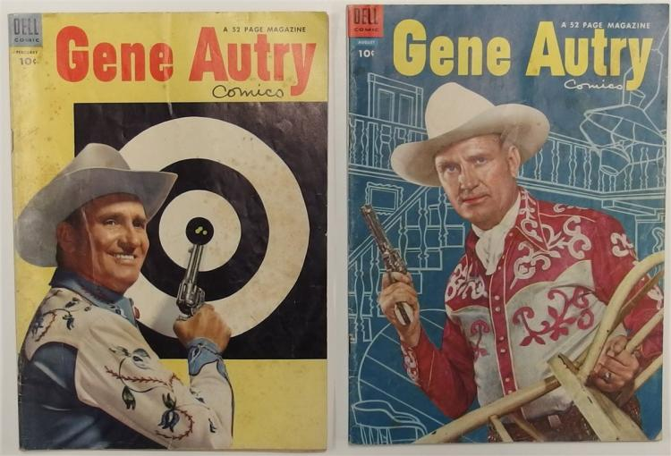2 GENE AUTRY - 1954 Vol 1 #84 - 1954 Vol 1 #90 Dell Western Cowboy Comic Books