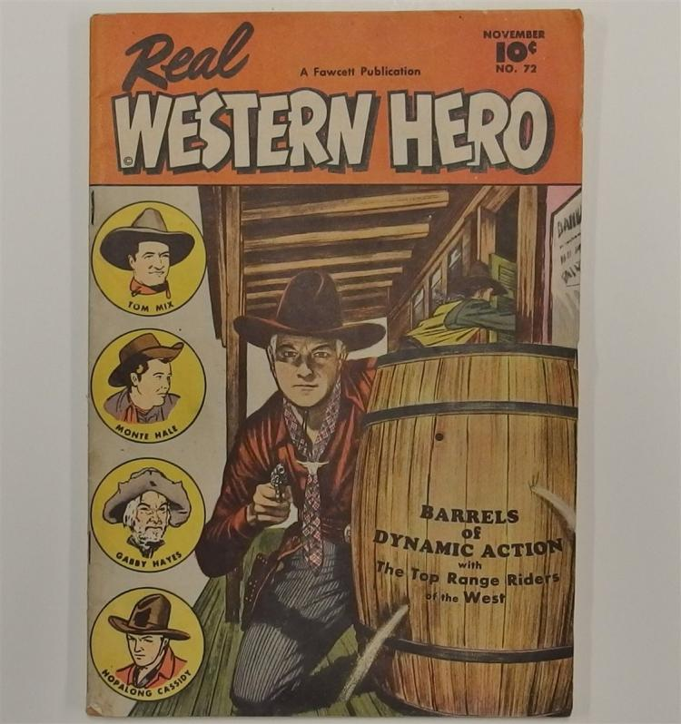 REAL WESTERN HERO - Nov 1946 Vol 12 #72 Fawcett Western Cowboy Comic Book
