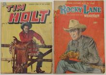 Lot 42: 2 - TIM HOLT 1950 Vol 2 #13 - ROCKY LANE 1954 Vol 9 #58 Western Comic Books