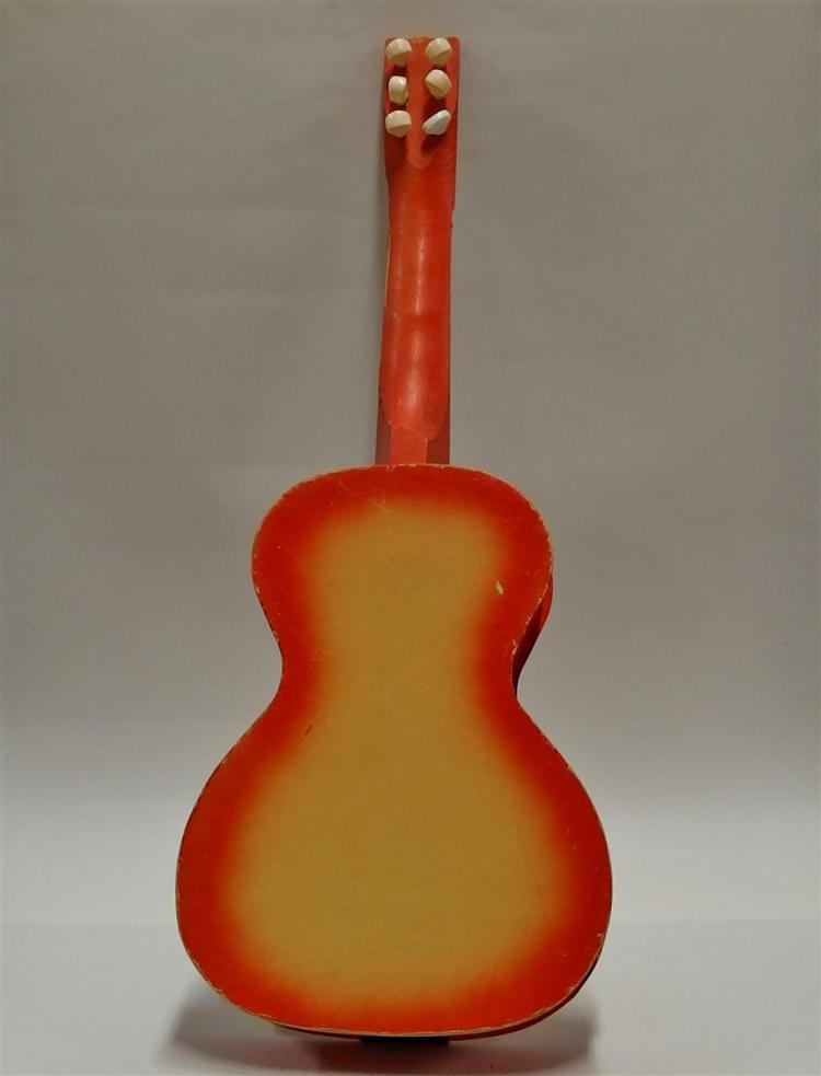 Lot 50: Vintage Roy Rogers and Trigger Wood & Cardboard Guitar, RR The Plus Brand. 6-String