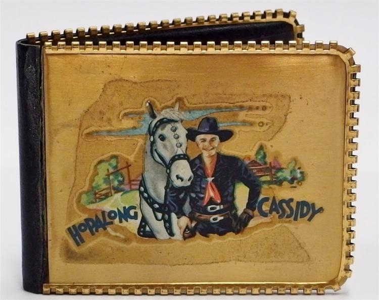 1952 HOPALONG CASSIDY Wallet with Special Agents Pass, Photos, Calendar, Good Luck Token