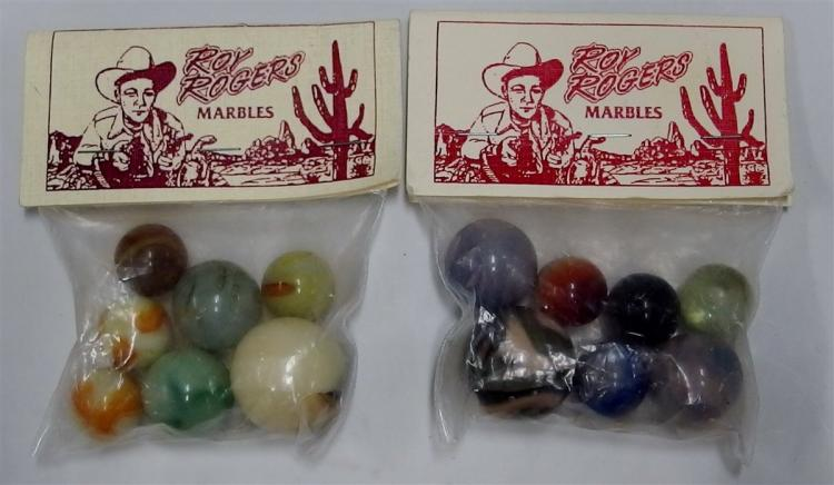2 - Packages of Vintage Roy Rogers Marbles, Shooters