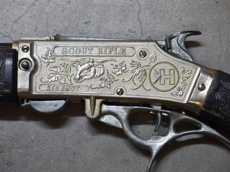Lot 79: Hubley Scout Rifle 250 Shot Toy Cap Gun Rifle