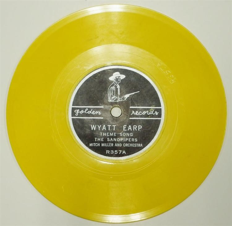 Golden Record 78 WYATT EARP THEME SONG / Saga of BILLY THE KID, Yellow Vinyl R357.