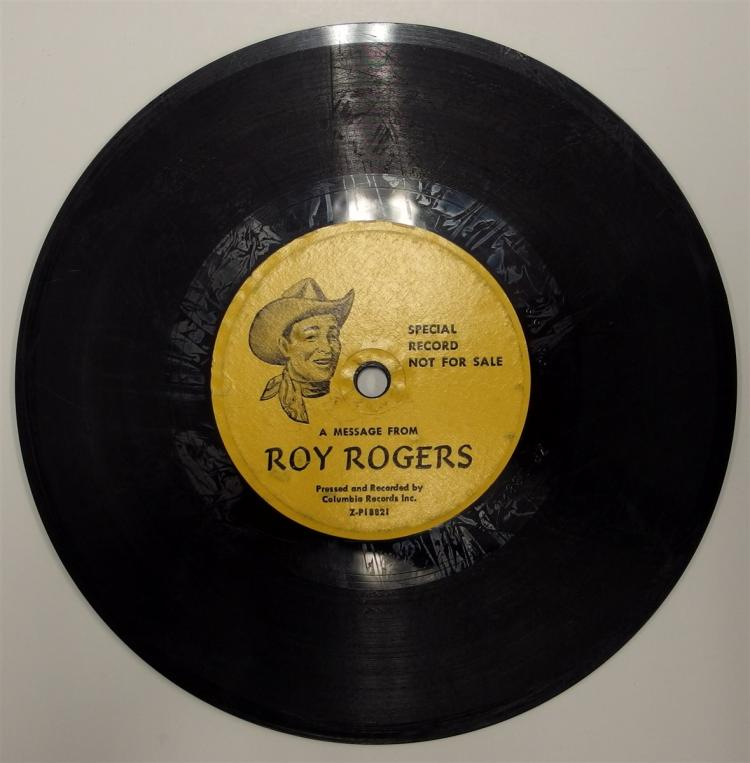 1953 Columbia Records 78 ROY ROGERS / DANDY HANDY and CANDY Not for Sale Special Premium Z-P18820.