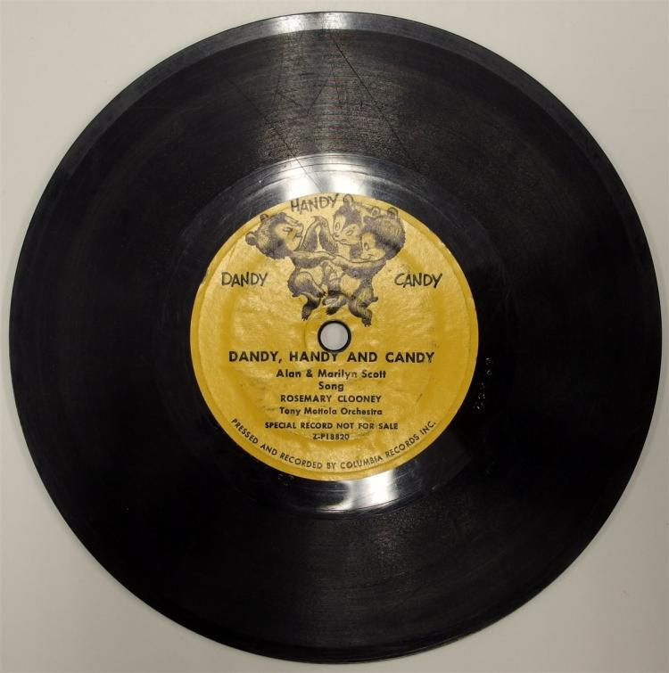 Lot 90: 1953 Columbia Records 78 ROY ROGERS / DANDY HANDY and CANDY Not for Sale Special Premium Z-P18820.