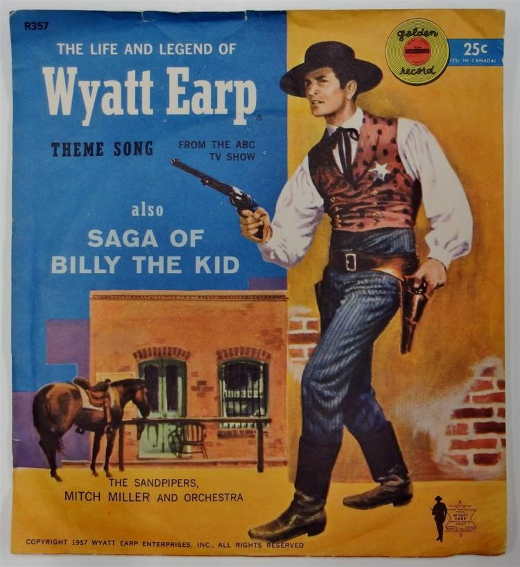 Golden Record 78 WYATT EARP THEME SONG / Saga of BILLY THE KID, 1957 Yellow Vinyl R357.