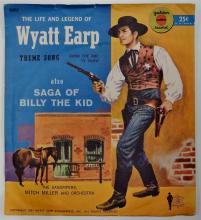 Lot 92: Golden Record 78 WYATT EARP THEME SONG / Saga of BILLY THE KID, 1957 Yellow Vinyl R357.