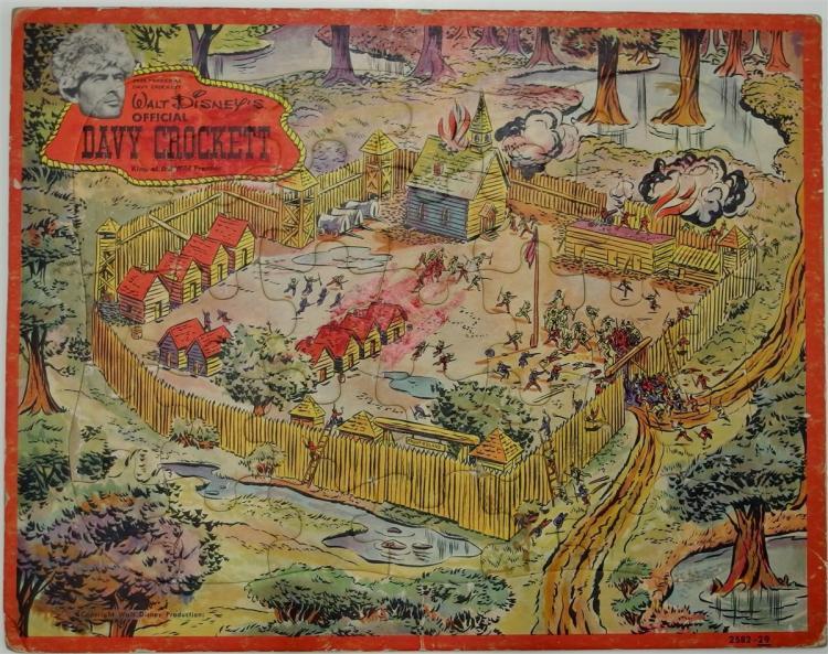 Lot 96: Vintage Walt Disney DAVY CROCKETT Wild Frontier Puzzle