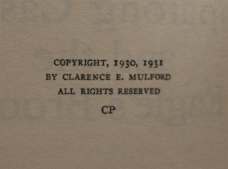 Lot 99: Chapter Book: HOPALONG CASSIDY and the Eagle's Brood by Clarence E. Mulford, 1931