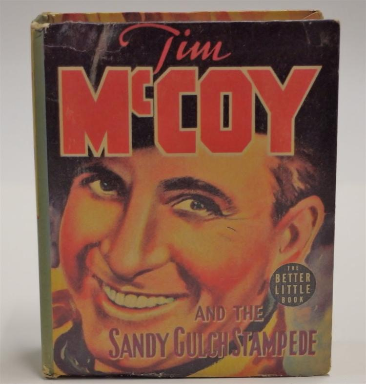 Lot 104: The Big Little Book: TIM McCOY and the Sandy Gulch Stampede #1490