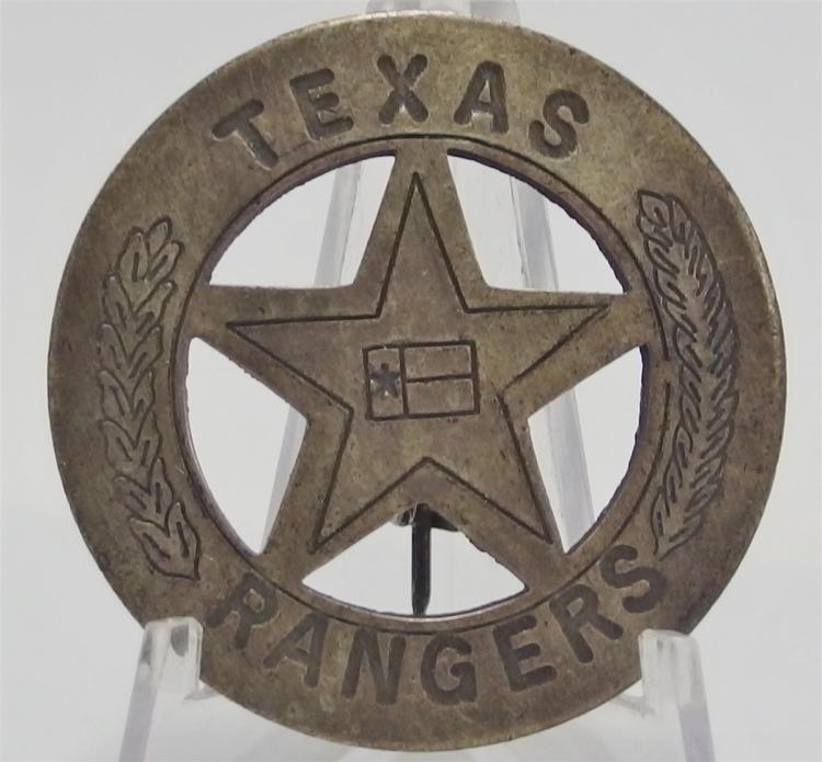 "Vintage TEXAS RANGER Badge, 1-3/4""D"