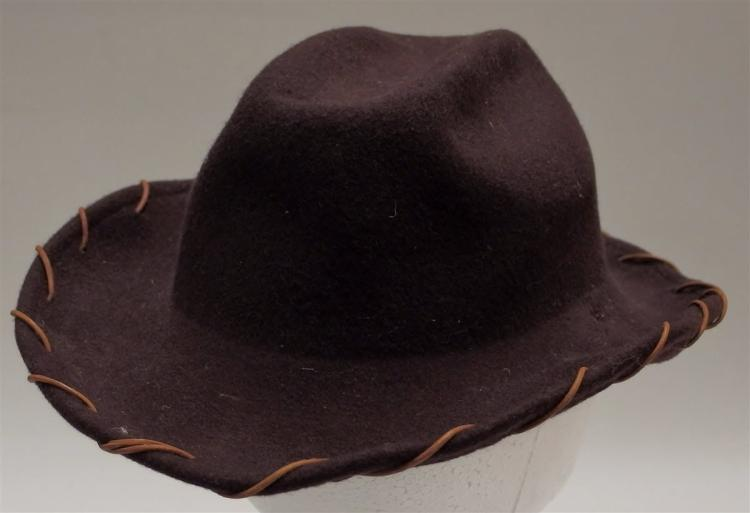 Vintage Brown Wool Cowboy Hat, Child's Small