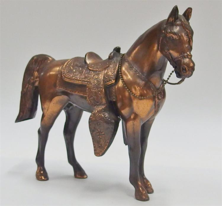 "Vintage Carnival Prize Horse, Copper Finish, 9-1/2""L"