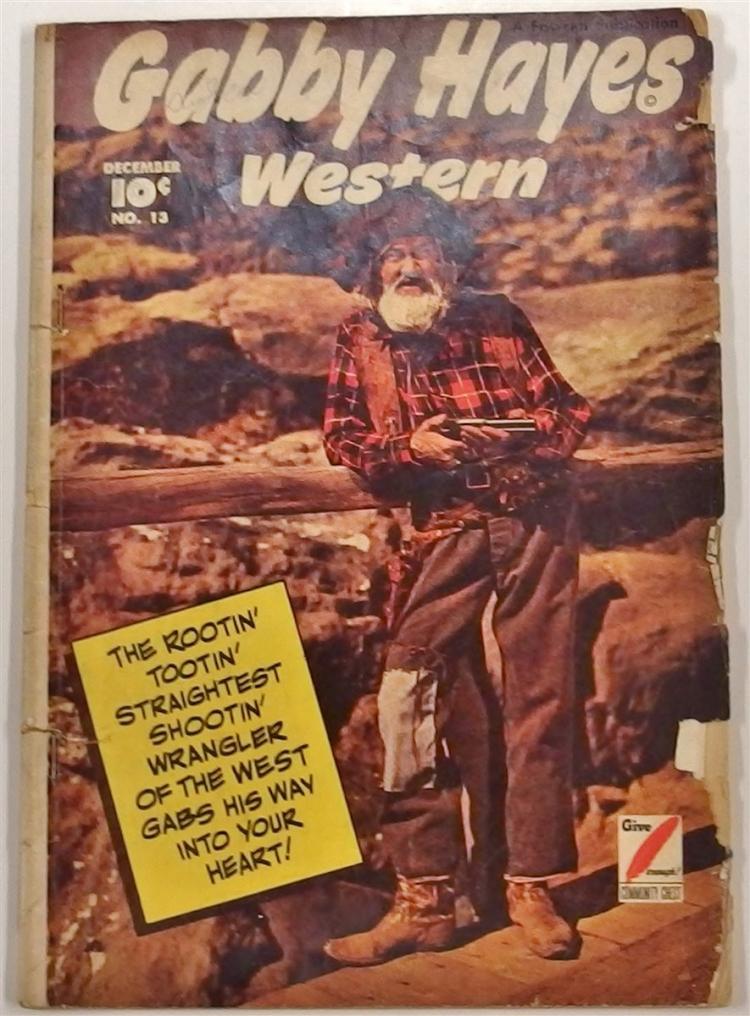 GABBY HAYES Western 1949 #13 Fawcett Comic Book