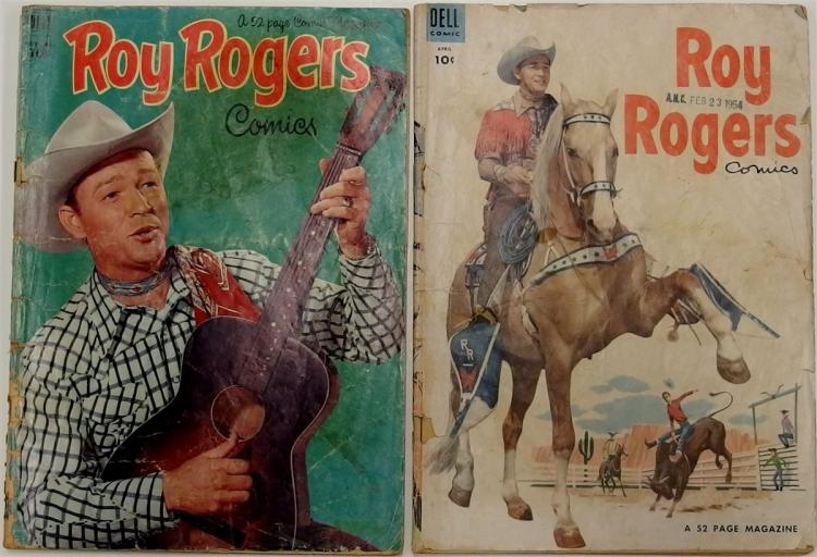 2 ROY ROGERS Western - 1952 Vol 1 # 59 - 1954 Vol 1 #76 - Dell Comic Books