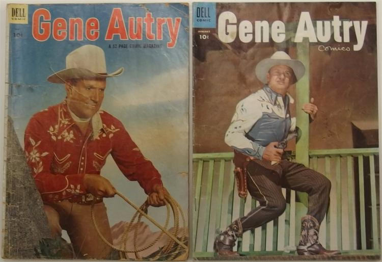 2 GENE AUTRY - 1953 Vol 1 #75 - 1955 Vol 1 #95 - Dell Western Comic Books