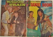 Lot 135: 2 Western Comic Books - WAGON TRAIN 1960 #5 - DANIEL BOONE 1967 #10 - Dell / Golden Key