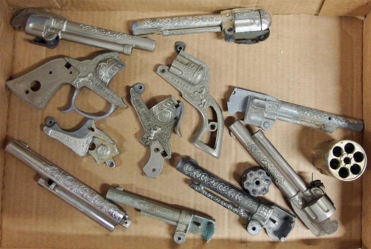 Lot 149: Cowboy & Western Toy Cap Gun Parts - Barrels
