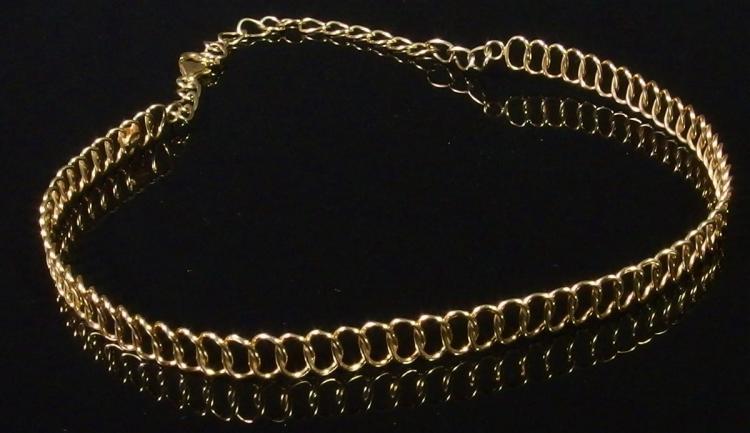 """14K Gold Choker Necklace, 14-1/2"""". 11.7g"""