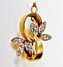 Lot 34: 14K Gold Diamond Enhancer, Joins 2 Chains