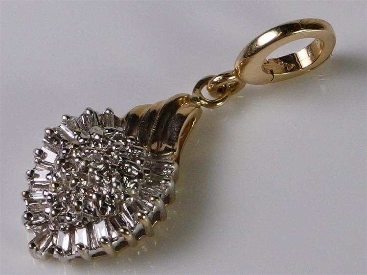 14K Gold Diamond Enhancer Pendant