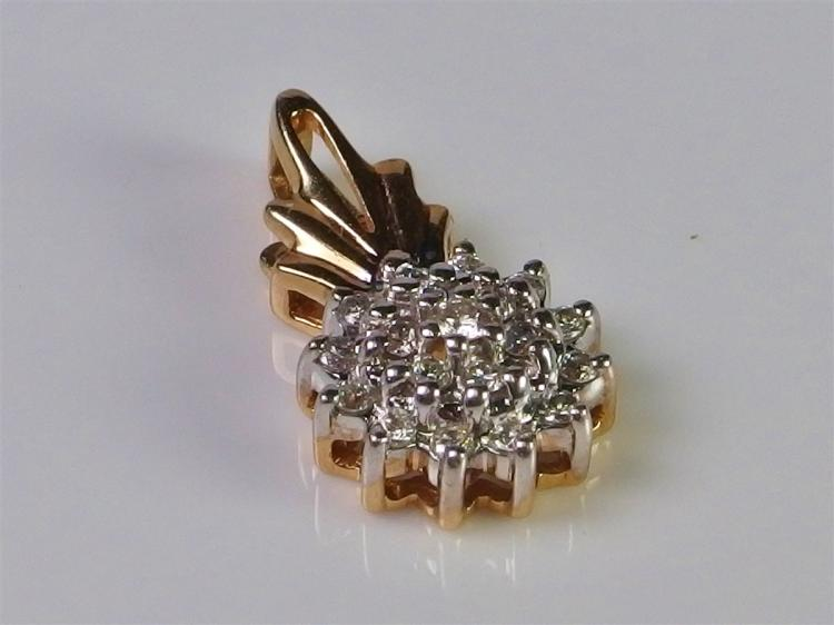 14K Gold Diamond Pendant