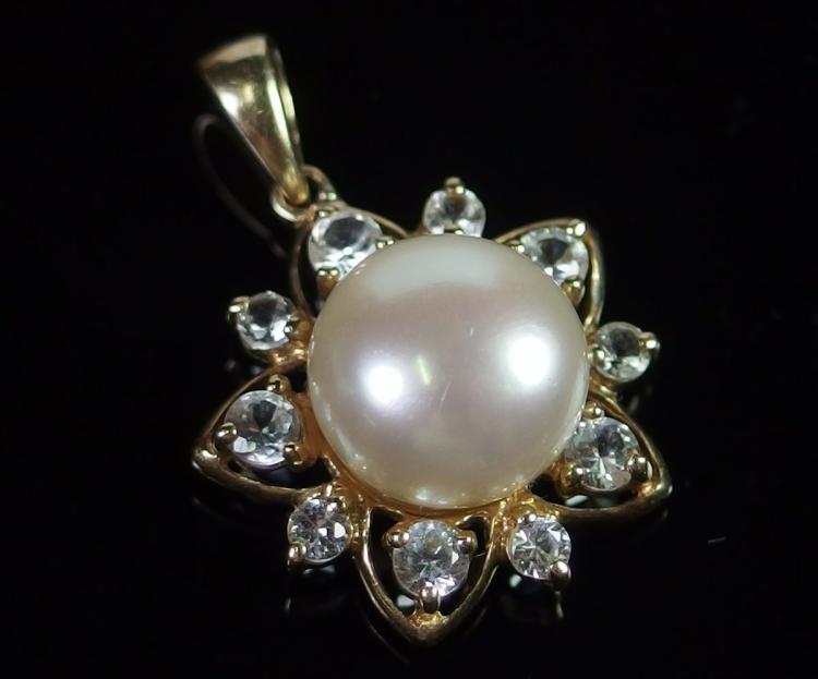 10K Gold Pearl Pendant