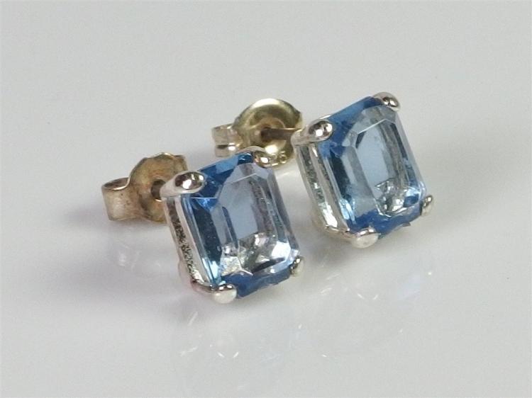 Lot 91: Monet Blue Crystal Earrings