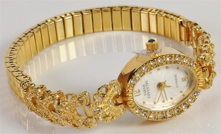 Sarah Coventry Cubic Zirconia Ladies Wrist Watch, New