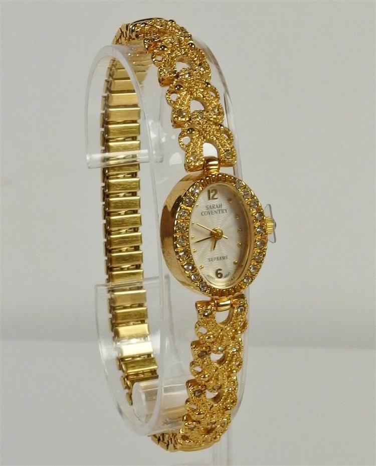 Lot 107: Sarah Coventry Cubic Zirconia Ladies Wrist Watch, New