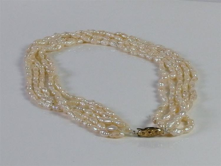5-Strand Pearl Necklace, 16""