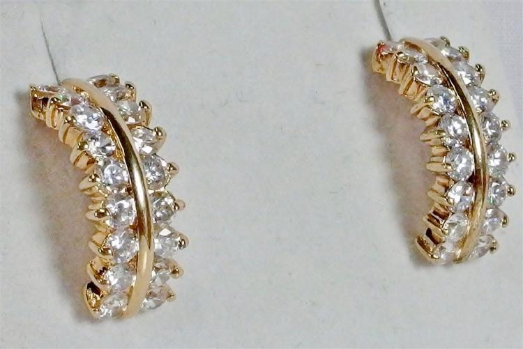 Sterling CZ Hoop Earrings