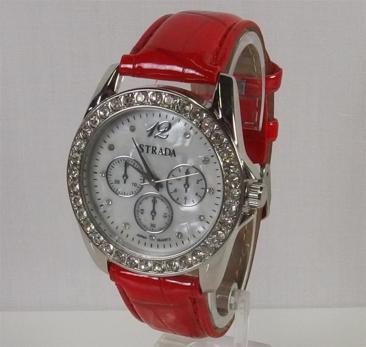 New Strata Watch with CZ's and Mother of Pearl Face
