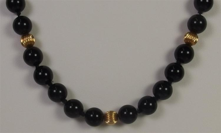 Lot 139: Black Onyx Necklace, 20""
