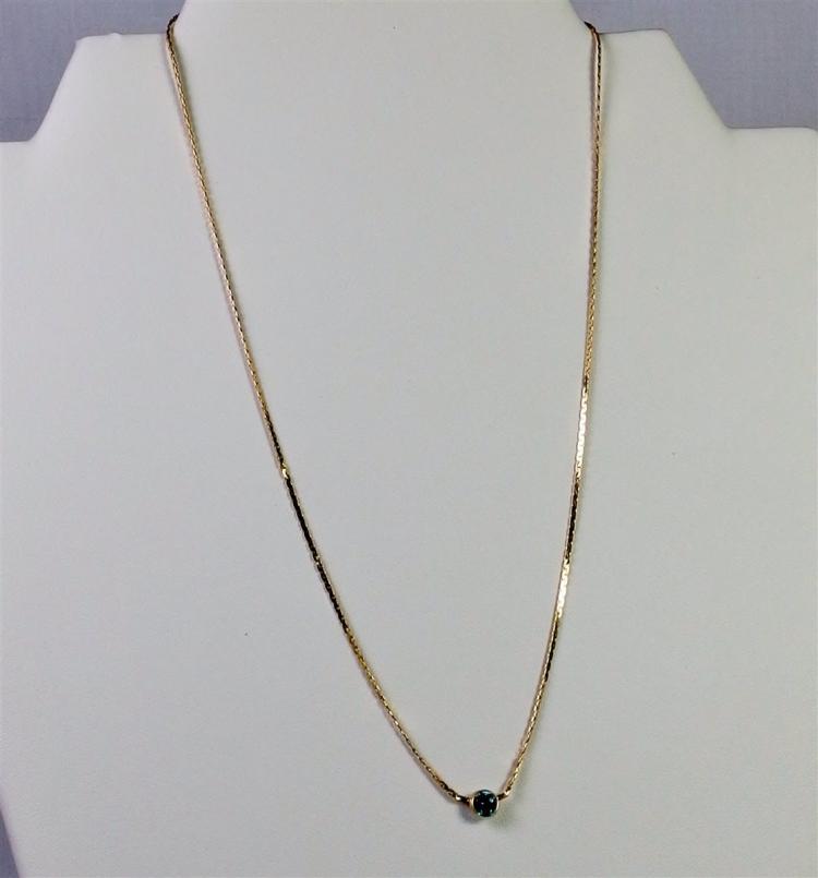 """14K Gold Appatite Necklace, 16"""". 2.4g"""