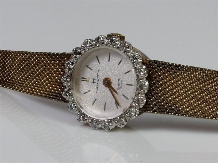Hamilton Ladies Watch 10K RGP Bezel with 18 Diamonds