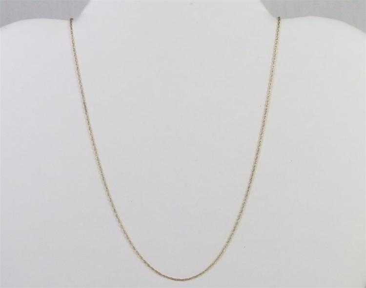 "14K Gold Fine Wheat Link Chain Necklace, 18"". 0.5g"