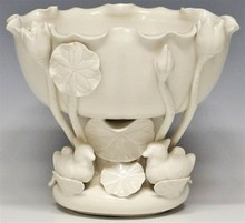 Chinese Blanc de Chine Porcelain Lotus and Duck Bowl