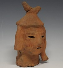 Rare Japanese Haniwa Head Sculpture, Kofun Period/ 3rd - 6th Century