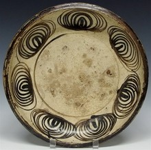 Japanese Seto Pottery Umanome (Horse Eyes) Charger